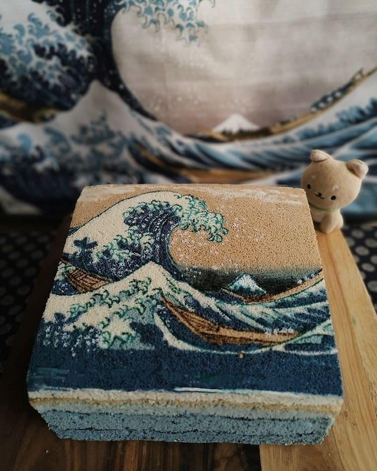 Dessert La Grande Vague de Kanagawa