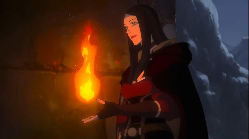 Tetra Gilcrest, sorcière du film d'animation The Witcher le cauchemar du loup